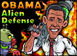 play Obama Alien Defense