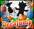 DecaJump - Use balloons to bounce, Time Machines to change characters and collect the coins and bonuses.